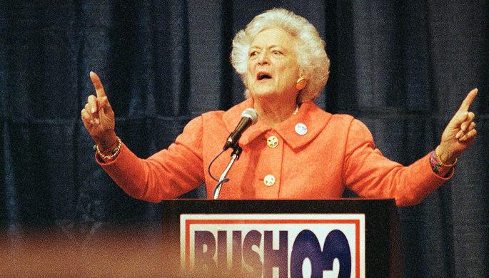 Барбара Буш, первая леди с 1989 по 1993 год. В Белом доме Барбара была известна властным, железным...
