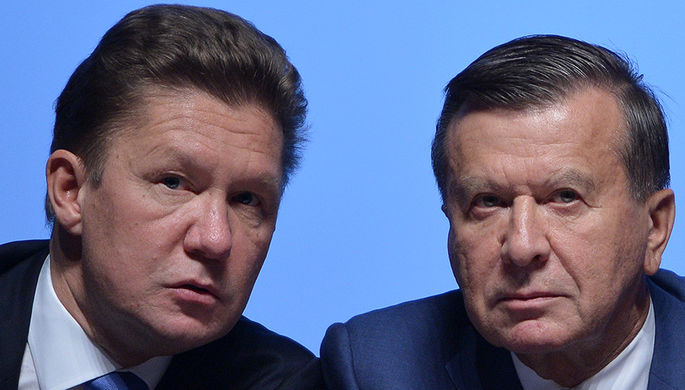 Алексей Миллер и Виктор Зубков (справа)