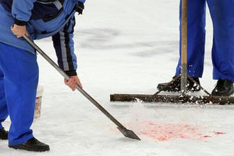 Эпизод во время хоккейного матча