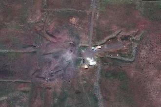 Объект после ракетной атаки, 14 апреля 2018 года