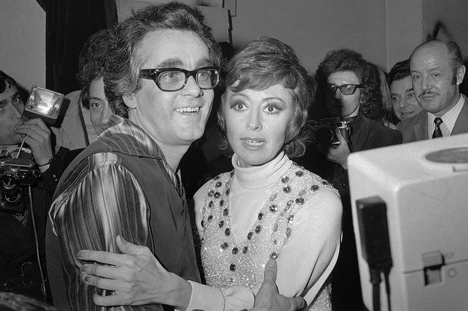 Композитор Мишель Легран и актриса Катерина Валенте, 1972 год