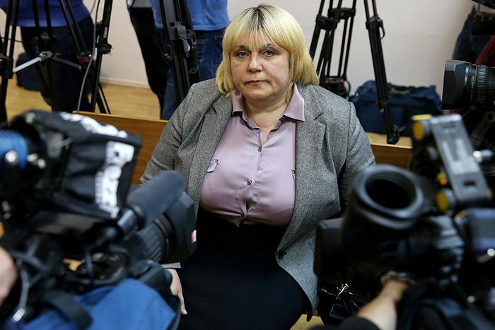 Наталья Дынькова перед оглашением приговора в Замоскворецком суде