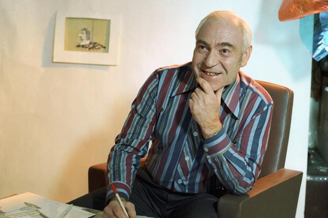 Федор Хитрук, мультипликатор, режиссер, сценарист, народный артист СССР, главный художник студии «Союзмультфильм»