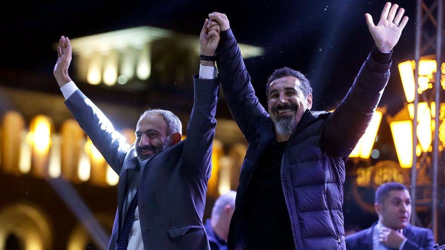 Лидер System of a Down Серж Танкян прибыл в Ереван поддержать оппозицию