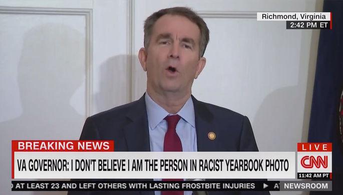 NYT: «расистское фото» губернатора Вирджинии поставило под угрозу будущее демократов