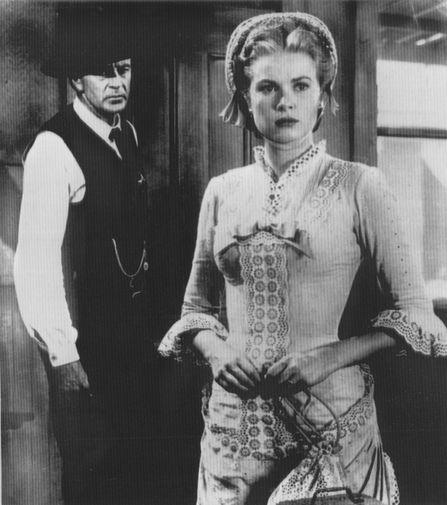 Гэри Купер и Грейс Келли и в фильме «Ровно в полдень» (1952)