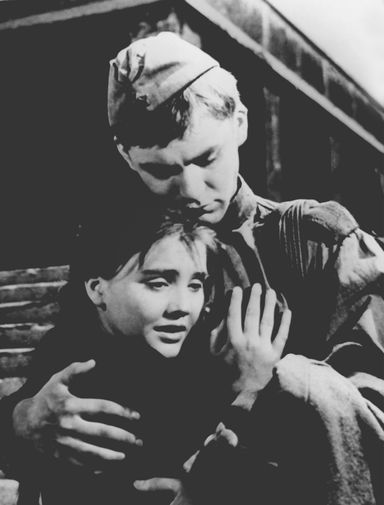 Кадр из фильма «Баллада о солдате», 1959 год