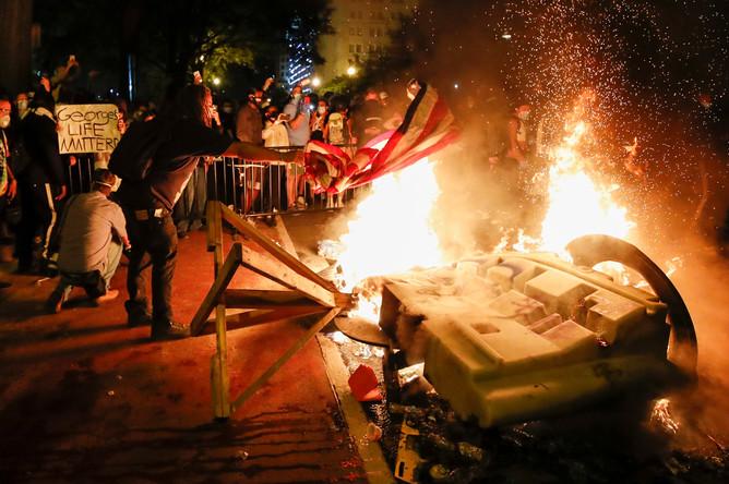 Протестующие в Вашингтоне, 1 июня 2020 года