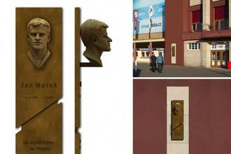 На арене пражской «Спарты» открыли мемориальную доску Яну Мареку