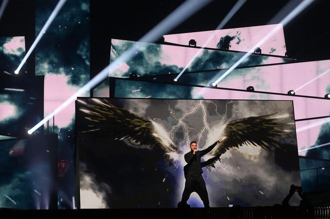 Представитель России Сергей Лазарев на репетиции финала 61-го Международного конкурса песни «Евровидение-2016»