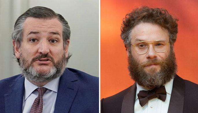 Сенатор-республиканец от Техаса Тед Круз и актер Сет Роген