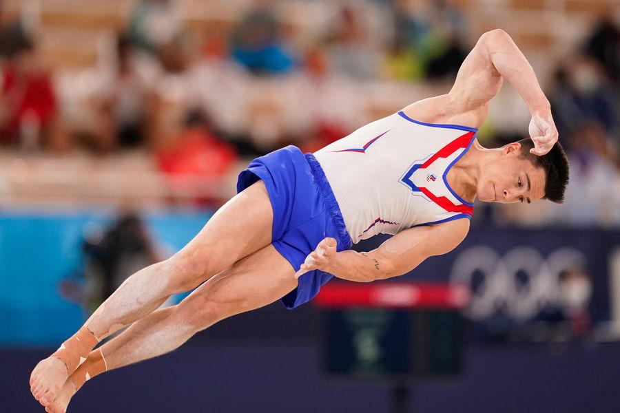 Российский гимнаст Никита Нагорный наОлимпийских играх вТокио