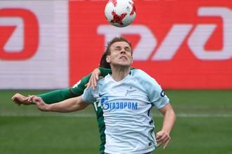 Александр Кокорин результативно провел последнюю игру сезона