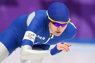 Российская конькобежка Наталья Воронина