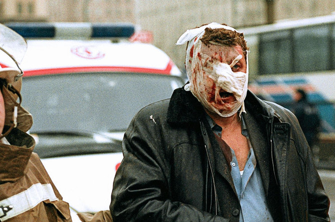 Пострадавший от взрыва в поезде московского метро на Замоскворецкой линии, 6 февраля 2004 года