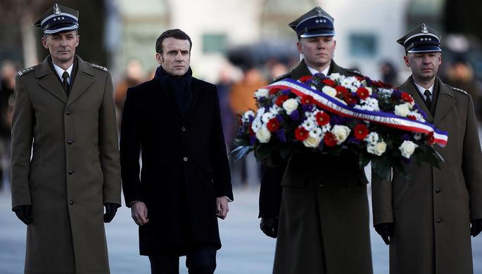 Президент Франции Эммануэль Макрон во время визита в Польшу, 3 февраля 2020 года