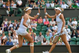 Российские теннисистки Екатерина Макарова и Елена Веснина