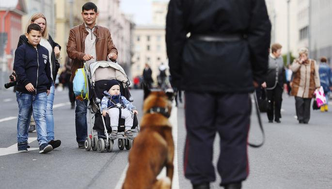 Во время празднования Дня города на Тверской улице