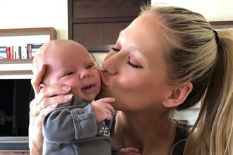 Анна Курникова и ребенок