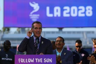 Мэр Лос-Анджелеса Эрик Гарсетти анонсирует 31 июля соглашение с МОК о проведении городом Олимпиады-2028