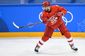 Российский хоккеист Вячеслав Войнов на Олимпиаде-2018