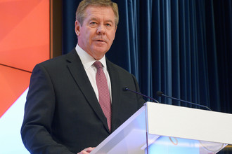 Замминистра иностранных дел России Геннадий Гатилов на мероприятии в Москве, февраль 2017 года