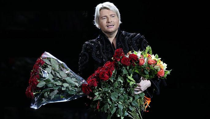 Певец Николай Басков во время шоу «Игра» в Государственном Кремлевском дворце