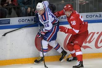 Матч регулярного чемпионата КХЛ СКА — «Спартак»