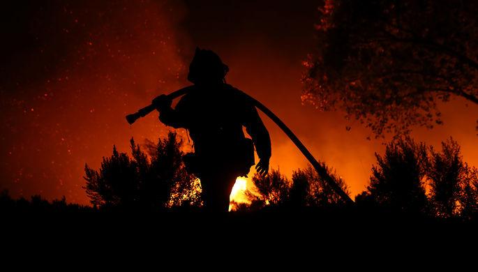 Пожар в городе Вентура, Калифорния, США, 7 декабря 2017 года