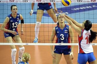 Чемпионки Европы не устояли перед натиском российских волейболисток