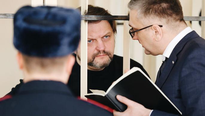 Экс-губернатор Кировской области Никита Белых перед оглашением приговора в Пресненском суде Москвы...