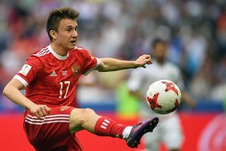 Александр Головин является едва ли не главной надеждой сборной России в преддверии ЧМ-2018
