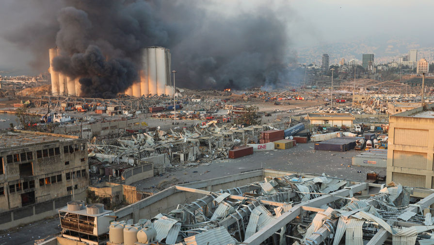 Последствия взрыва в порту Бейрута, 4 августа 2020 года