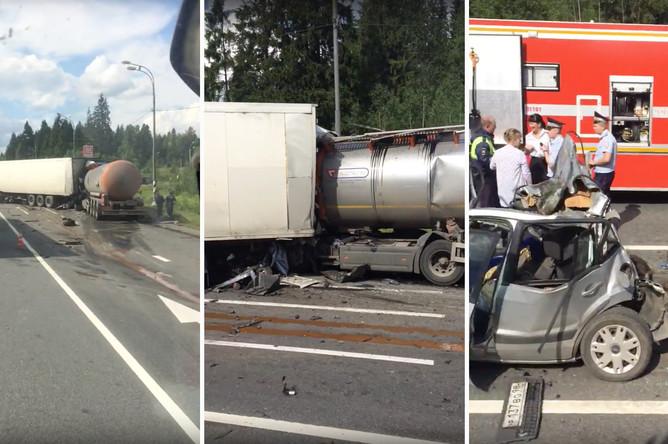 Последствия аварии на трассе Москва — Петербург, 13 июля 2017 года