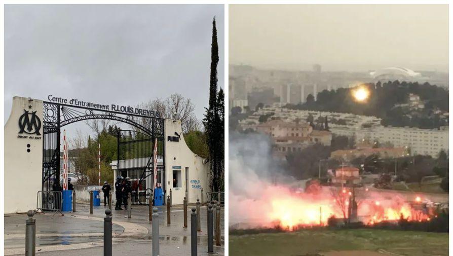 Тренировочная база «Марселя» в ходе атаки фанатов