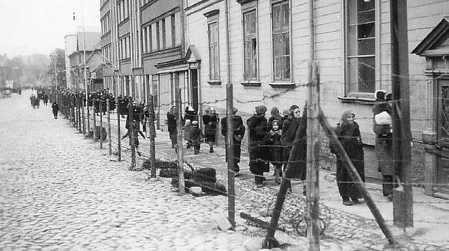 Вид Рижского «большого гетто». Осень 1941 года