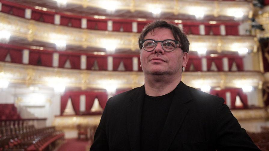 Валерий Тодоровский перед премьерой своего фильма «Большой» в Государственном академическом Большом театре России в Москве, 2017 год
