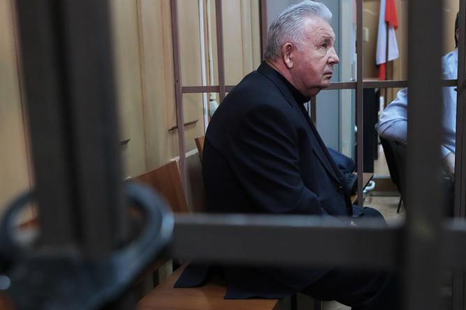 Экс-губернатор Хабаровского края Виктор Ишаев на заседании Басманного суда города Москвы, 29 марта 2019 года