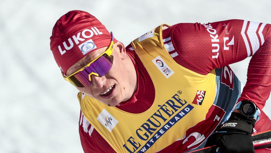 Александр Большунов, завоевавший третье место в командном спринте с Глебом Ретивых на чемпионате мира — 2021