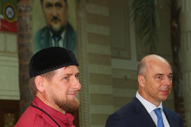 Рамзан Кадыров и Антон Силуанов во время общения с прессой по итогам экономического совещания в Грозном, 2013 год