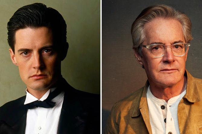 Актер Кайл Маклахлен (специальный агент ФБР Дейл Купер) в 1990 и сейчас