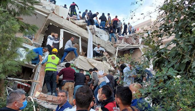 Последствия землетрясения магнитудой 6,6 в турецкой провинции Измир, 30 октября 2020 года