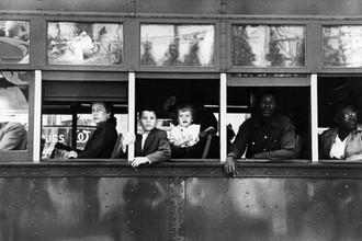 Роберт Франк. Троллейбус, новоорлеанцы, 1956 г.