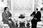 1998. Президент Таджикистан Эмомали Рахмонов и исполнительный секретарь СНГ Борис Березовский.