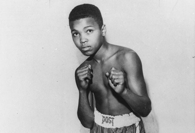 Мохаммед Али в возрасте 12 лет