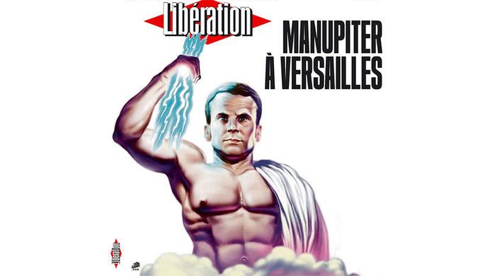 Обложка французской газеты Liberаtion с Макроном в образе Юпитера