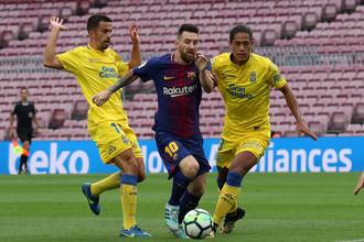 Дубль Месси принес «Барселоне» разгромную победу на «Лас-Пальмасом»