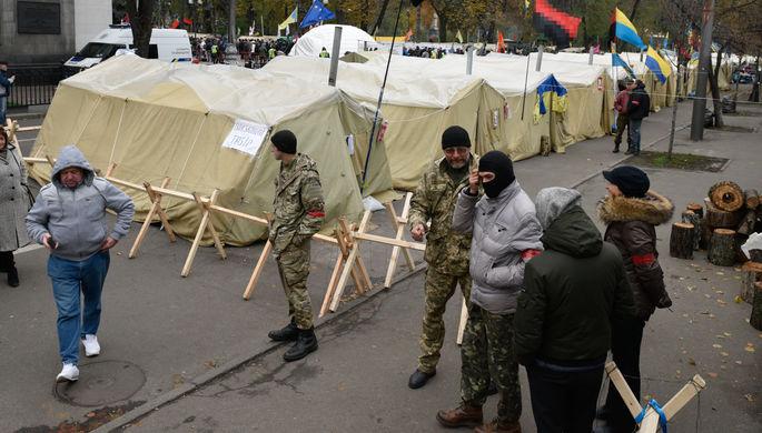 В Киеве на майдане произошли столкновения между протестующими и полицией