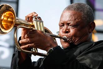 Трубач Хью Масекела во время джазового фестиваля в Сент-Люсии, 2012 год