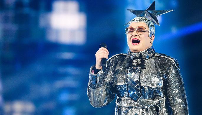 Верка Сердючка во время репетиции финала международного конкурса «Евровидение-2019»